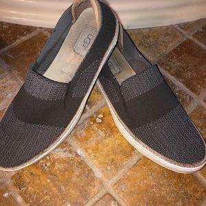 UGG Sammy knot leather slip on drag gray sz 9